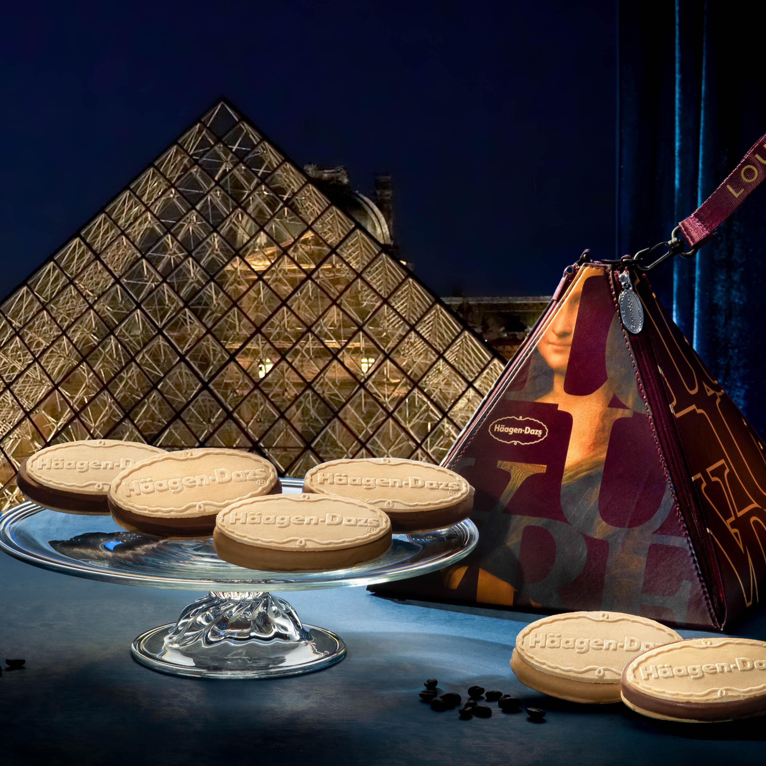 月餅》聯名羅浮宮的誠意之作,藝術氣息高雅的哈根達斯冰淇淋月餅
