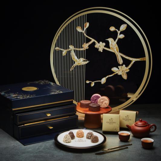 巧克力》GODIVA中秋限量巧克力珠寶禮盒,歐風瓷器輕奢享受